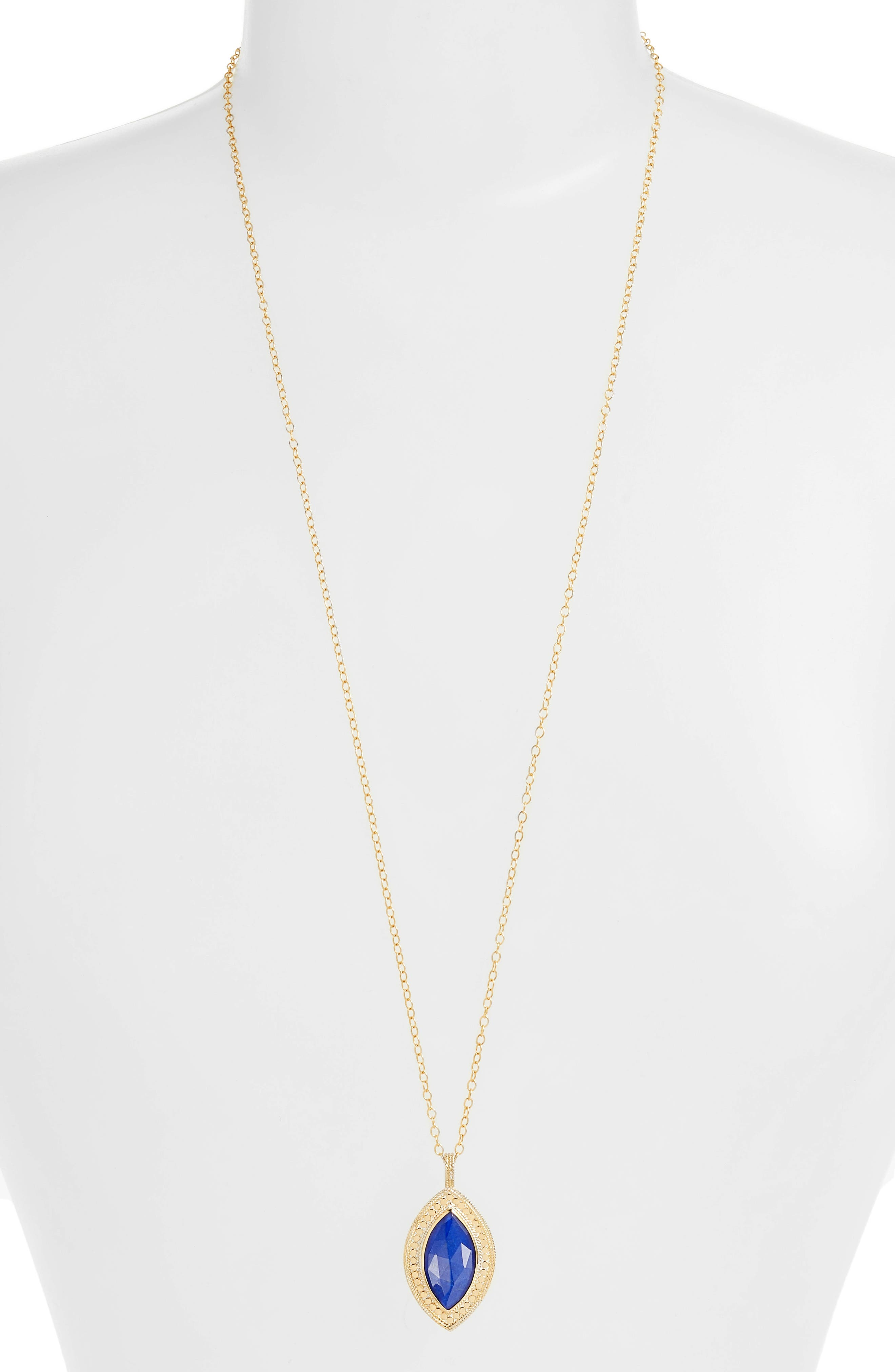 Double Sided Lapis Pendant Necklace