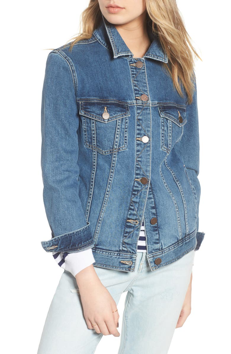 TREASURE & BOND Relaxed Denim Jacket, Main, color, 400
