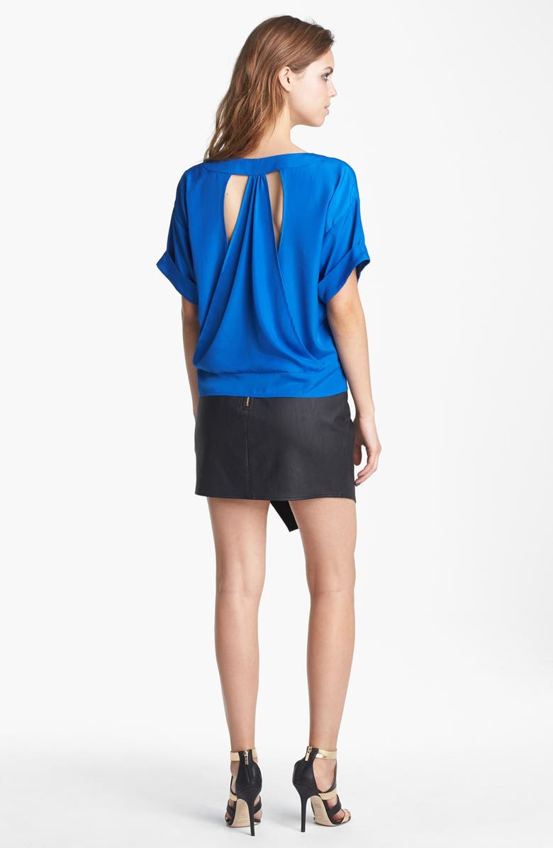 ASTR THE LABEL ASTR Asymmetrical Faux Leather Skirt, Main, color, 001