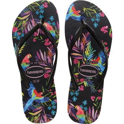 Havaianas Slim Tropical Floral Flip Flop