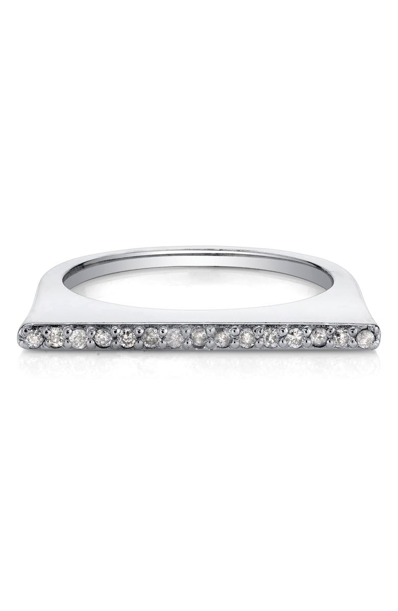 SHERYL LOWE Pavé Diamond Bar Ring, Main, color, STERLING SILVER