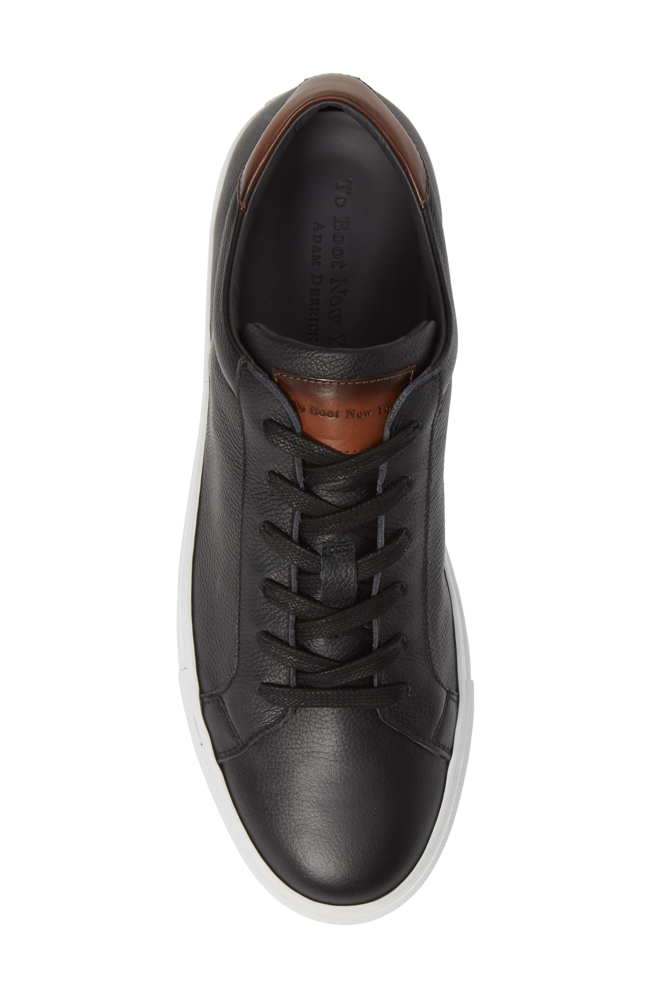 ,                             Knox Low Top Sneaker,                             Alternate thumbnail 5, color,                             BLACK/ TAN LEATHER