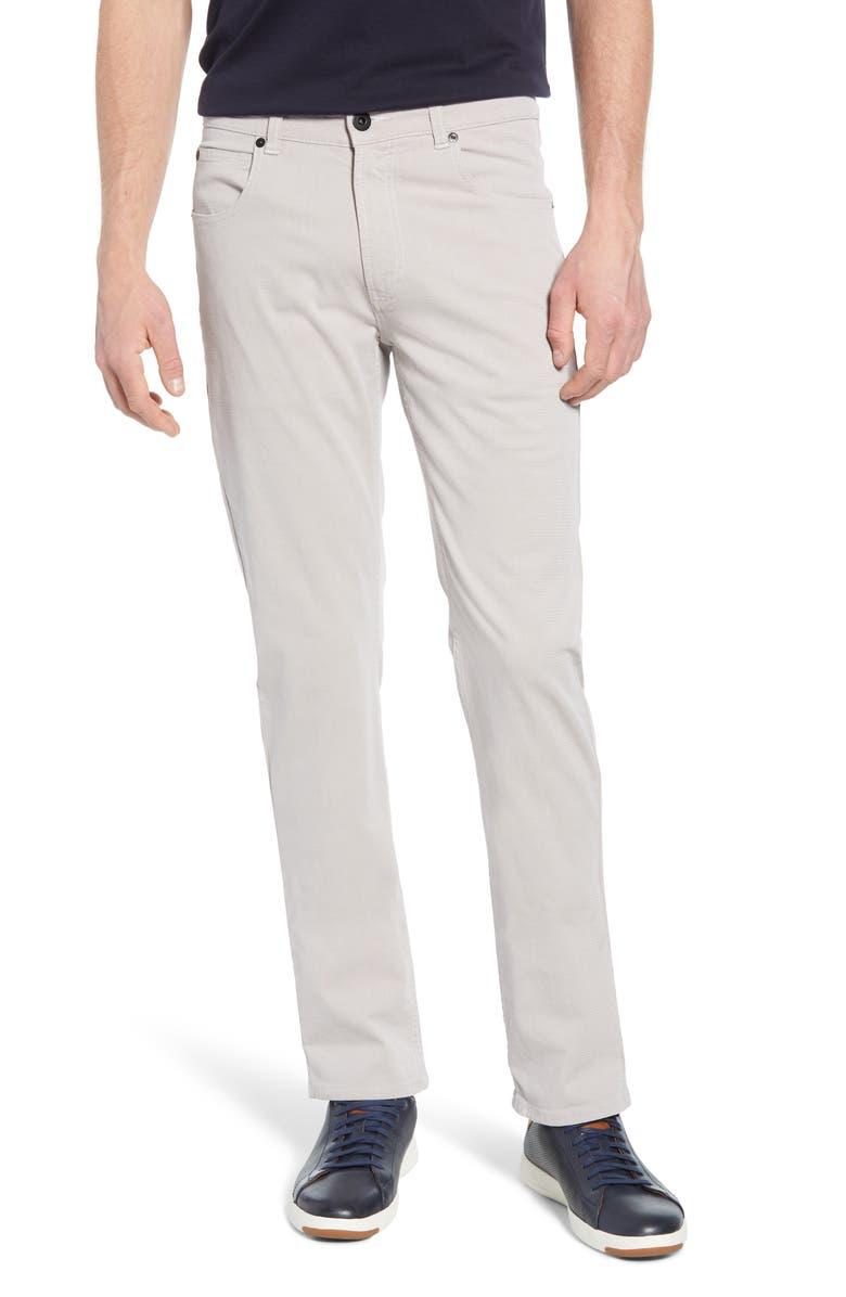 BUGATCHI Slim Straight Leg Pants, Main, color, STONE