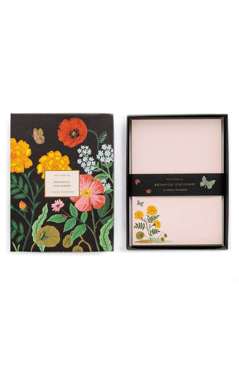 RIFLE PAPER CO. Botanical Social Stationery Set, Main, color, FLORAL