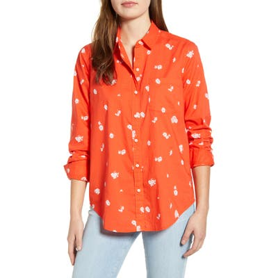 Lucky Brand Floral One-Pocket Shirt, Red