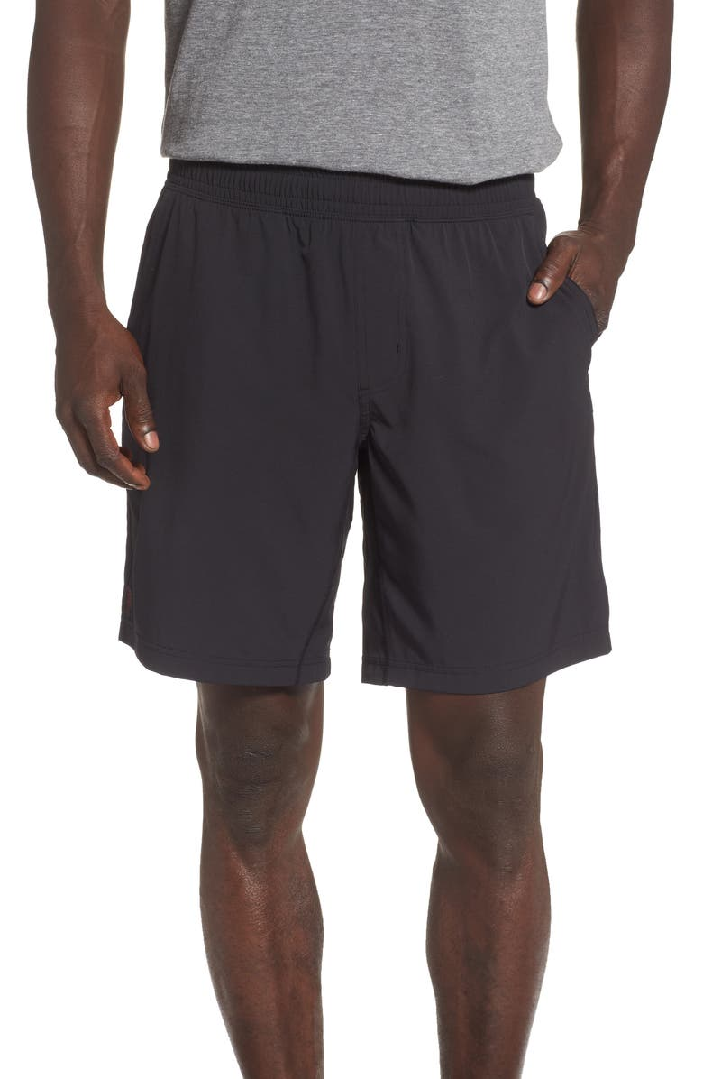 RHONE Mako Water Resistant Performance Athletic Shorts, Main, color, BLACK