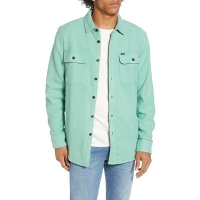 Obey Outpost Button-Up Chunky Flannel Shirt, Green