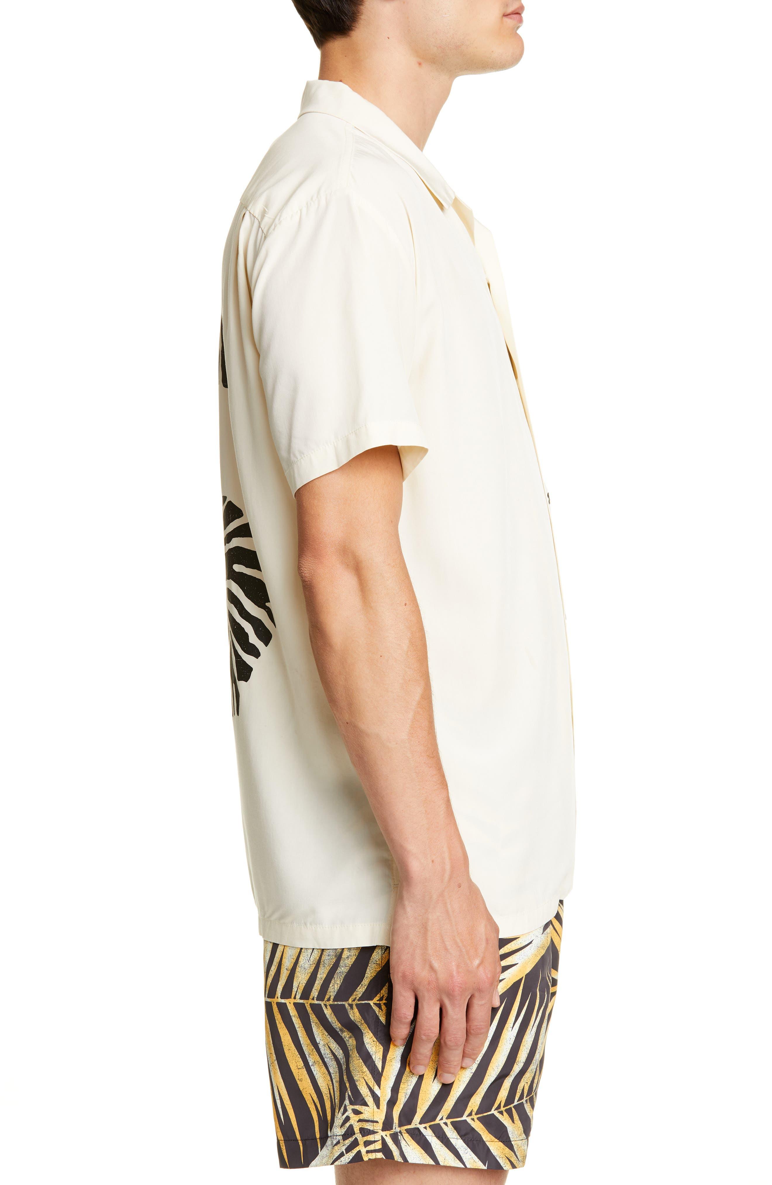 ,                             White Tiger Camp Shirt,                             Alternate thumbnail 4, color,                             WHITE