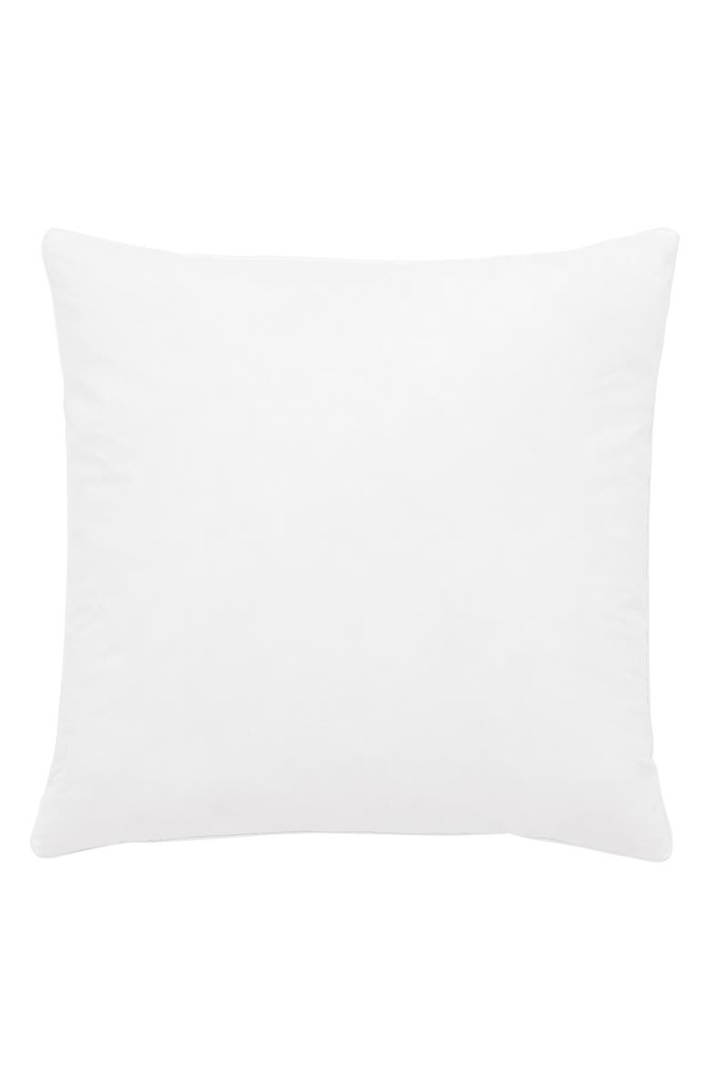THE WHITE COMPANY Square Duck Feather Pillow Insert, Main, color, WHITE