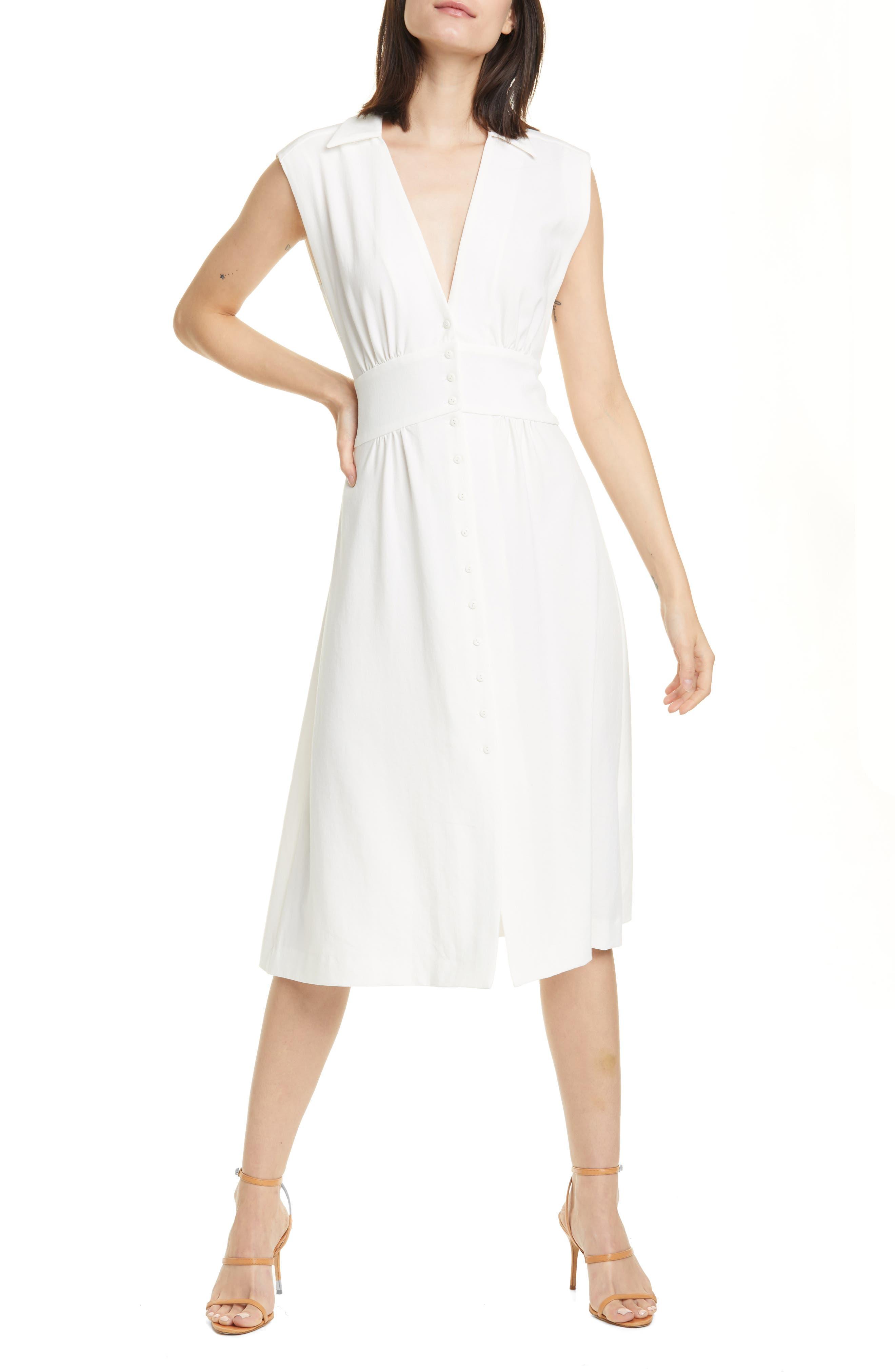 Image of ba&sh Faith Sleeveless Midi Shirtdress