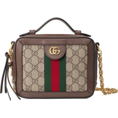 Gucci Mini Ophidia Gg Supreme Canvas Shoulder Bag - Beige