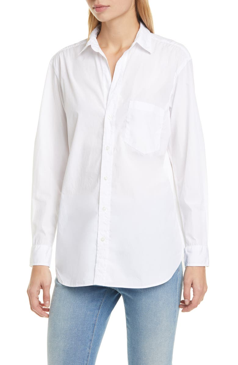 FRANK & EILEEN Joedy Superfine Cotton Button-Up Shirt, Main, color, WHITE PIUMINO