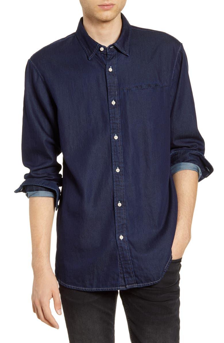 SCOTCH & SODA Indigo Button-Up Shirt, Main, color, NAVY