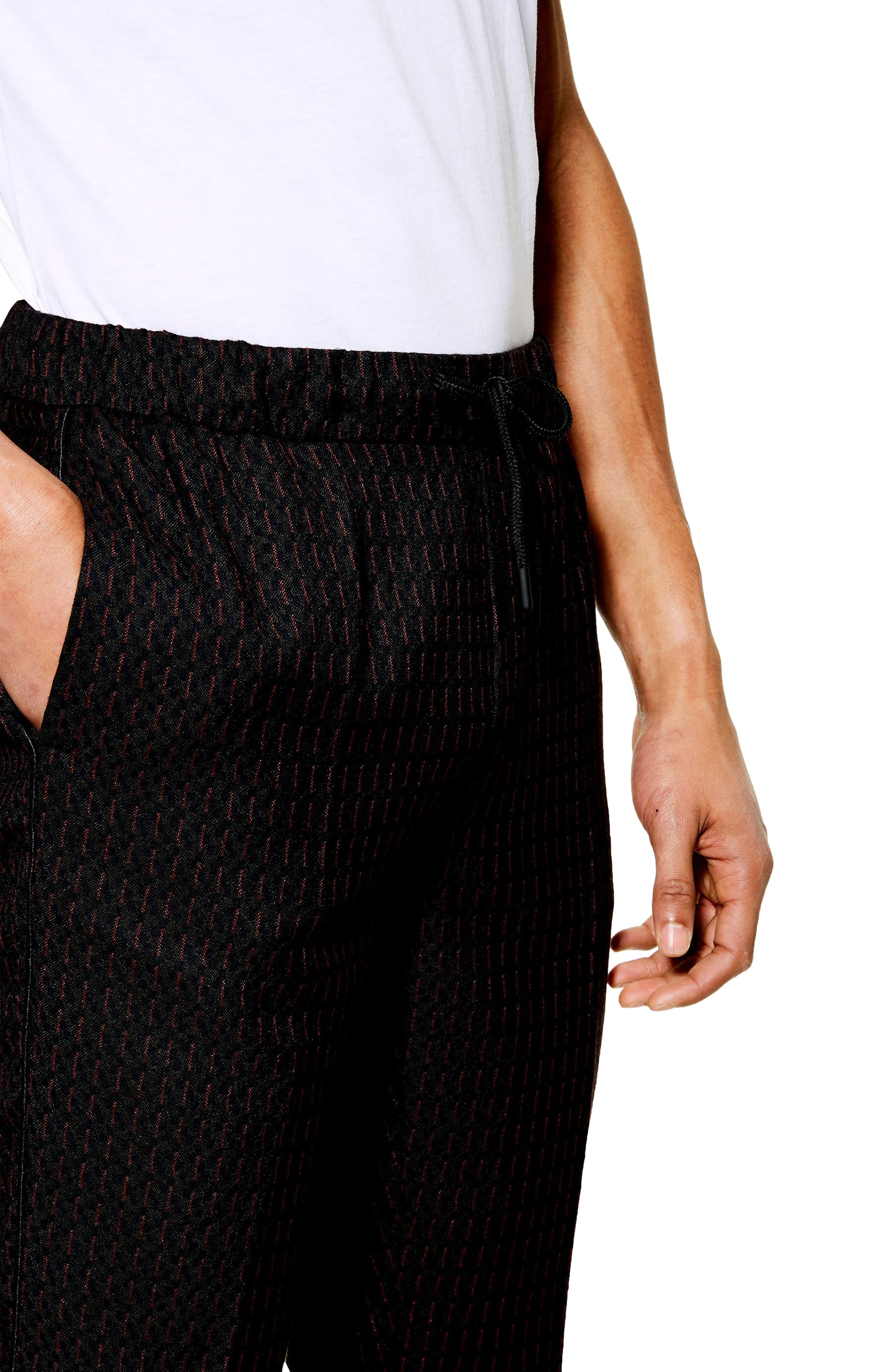 ,                             Pinstripe Crop Trousers,                             Alternate thumbnail 4, color,                             NAVY BLUE