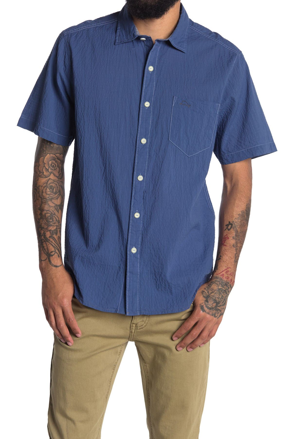 Image of Tommy Bahama Spread Collar Short Sleeve Shirt
