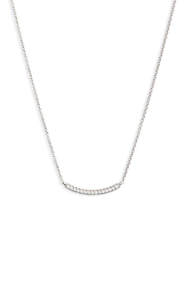 DANA REBECCA DESIGNS Ava Bea Diamond Bar Necklace, Main, color, WHITE GOLD/ DIAMOND