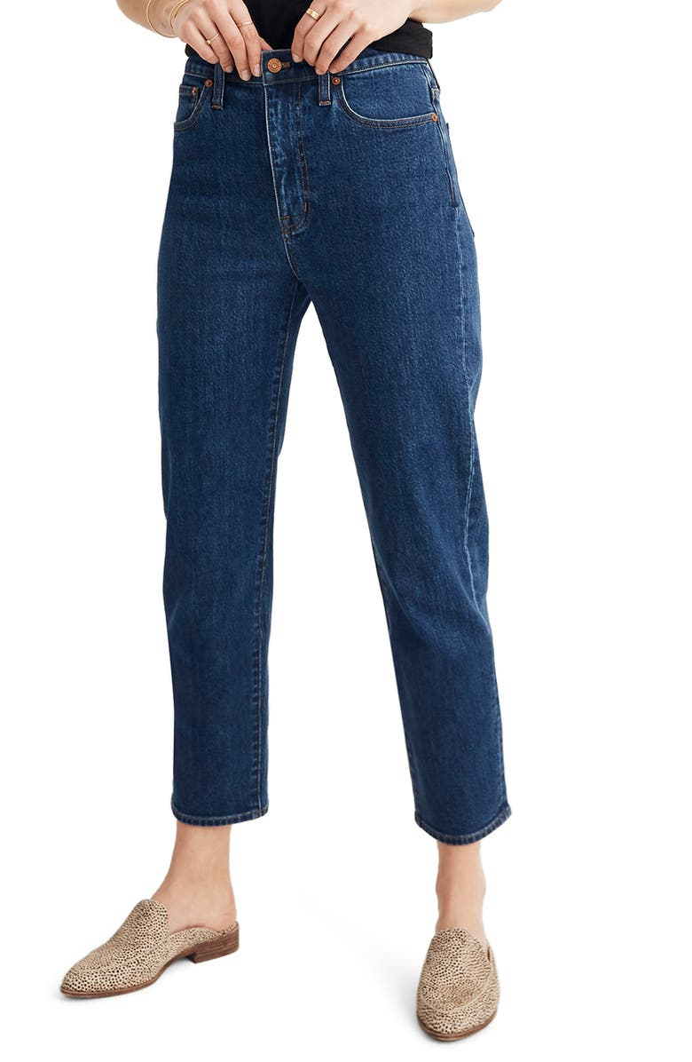 MADEWELL Tapered Leg Jeans, Main, color, BELLCLAIRE