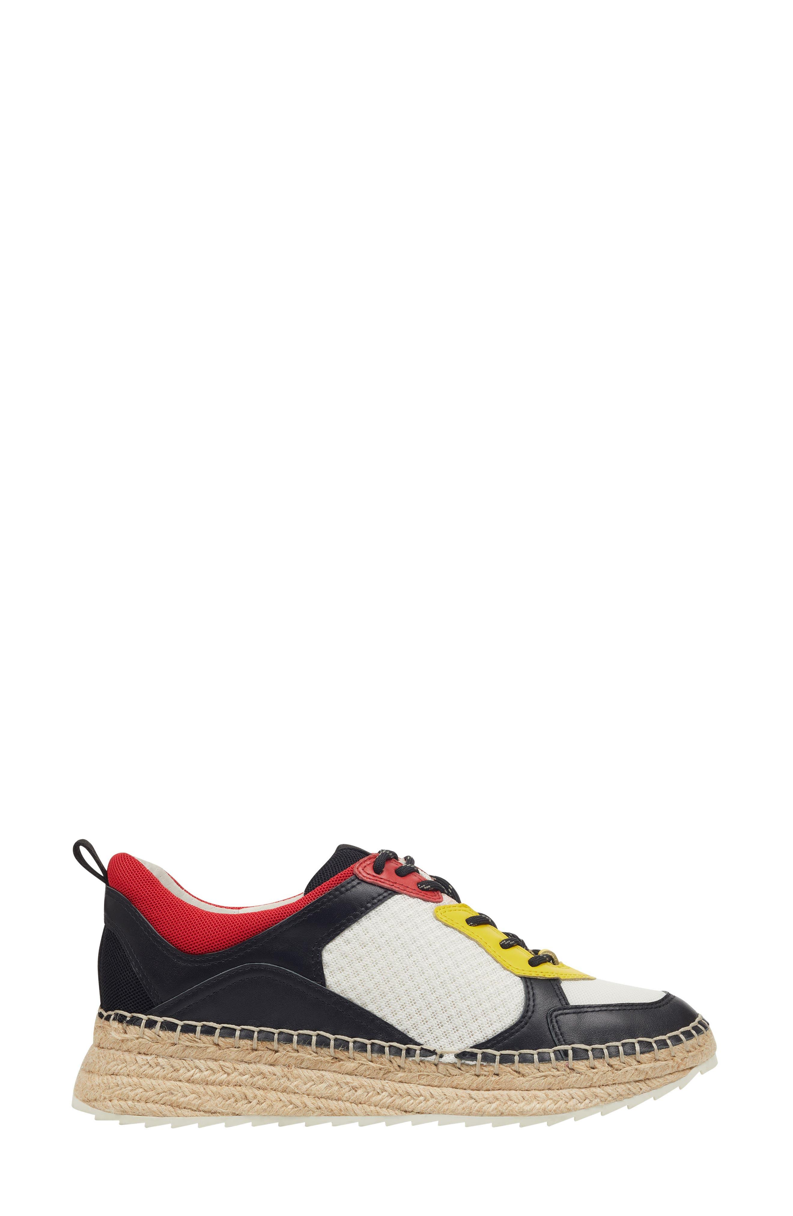 ,                             Janette Espadrille Sneaker,                             Alternate thumbnail 3, color,                             001