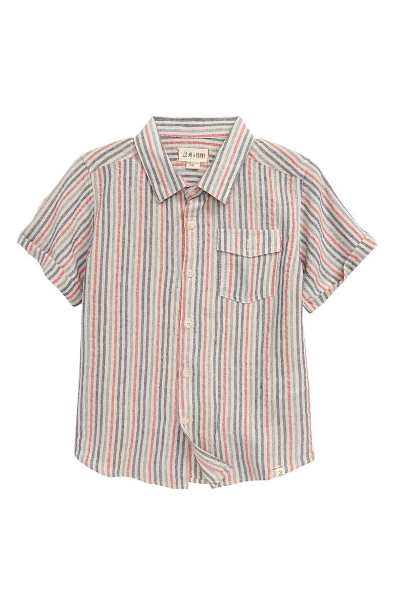 ME & HENRY Stripe Button-Up Shirt, Main, color, 600