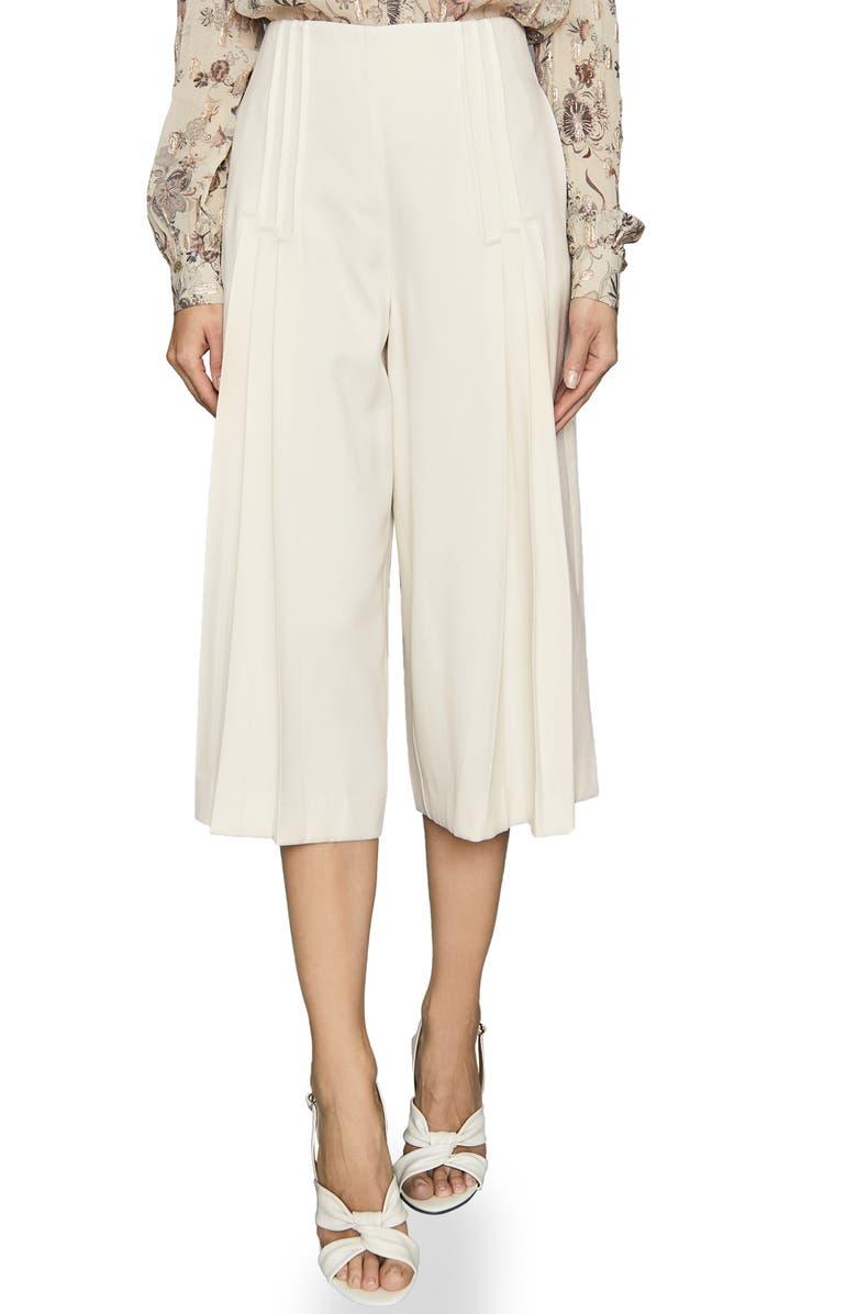 REISS Aurora Culotte Trousers, Main, color, CREAM