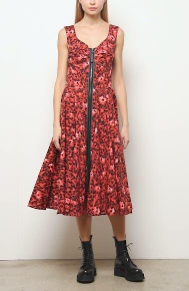 Leopard Print Stretch Cotton Dress, video thumbnail