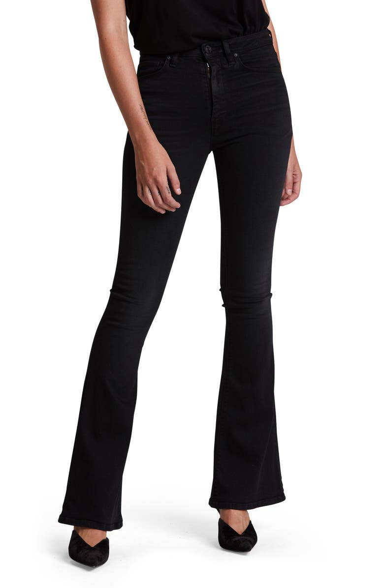 HUDSON JEANS Holly High Waist Flare Jeans, Main, color, 002