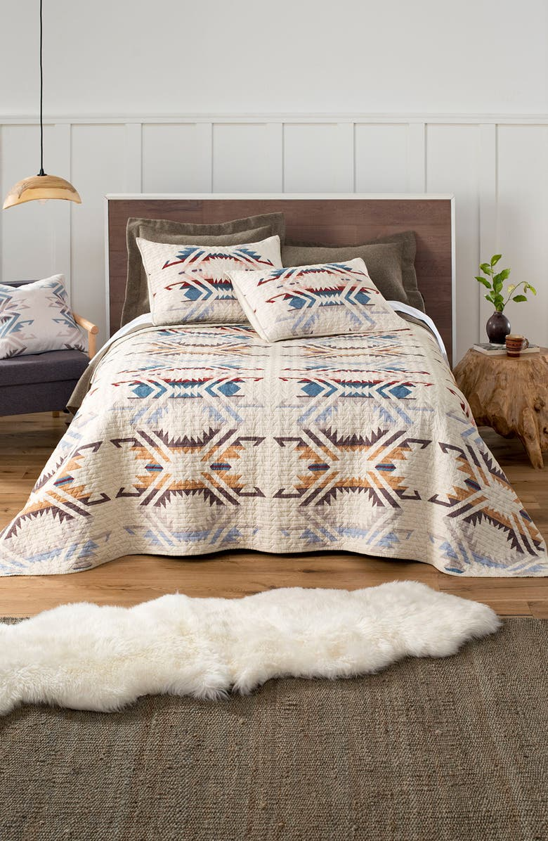 PENDLETON White Sands Quilt & Sham Set, Main, color, SAND SHELL