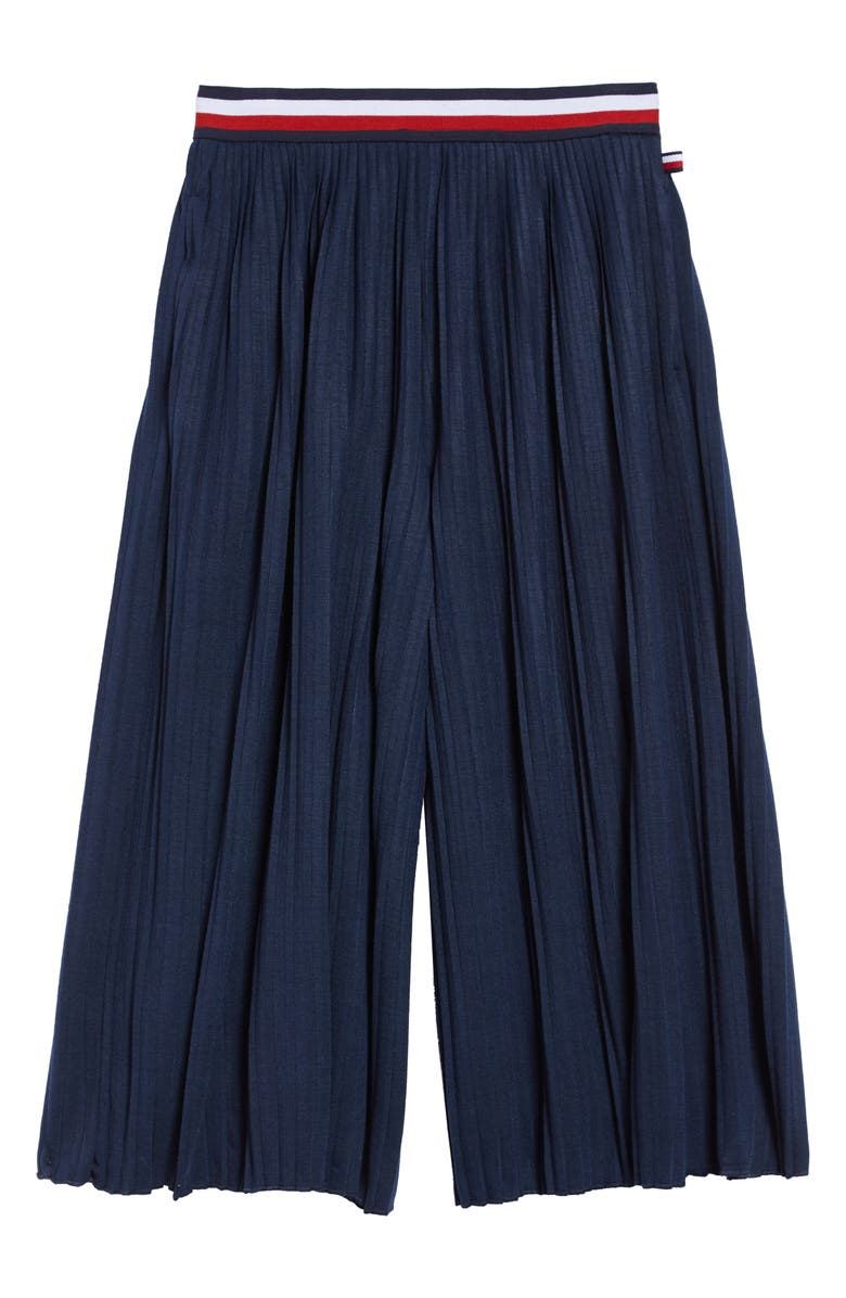 TOMMY HILFIGER Pleated Culottes, Main, color, 405