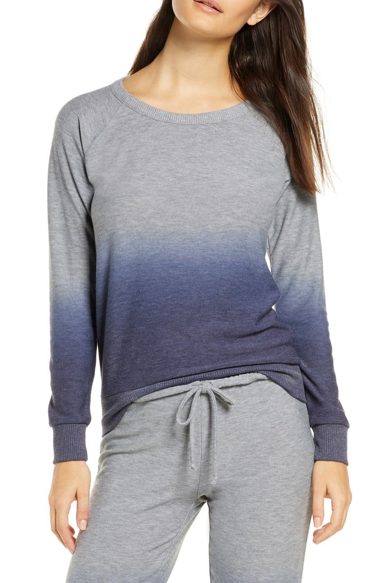 CHASER Ombré Cozy Pullover, Main, color, NAVY OMBRE