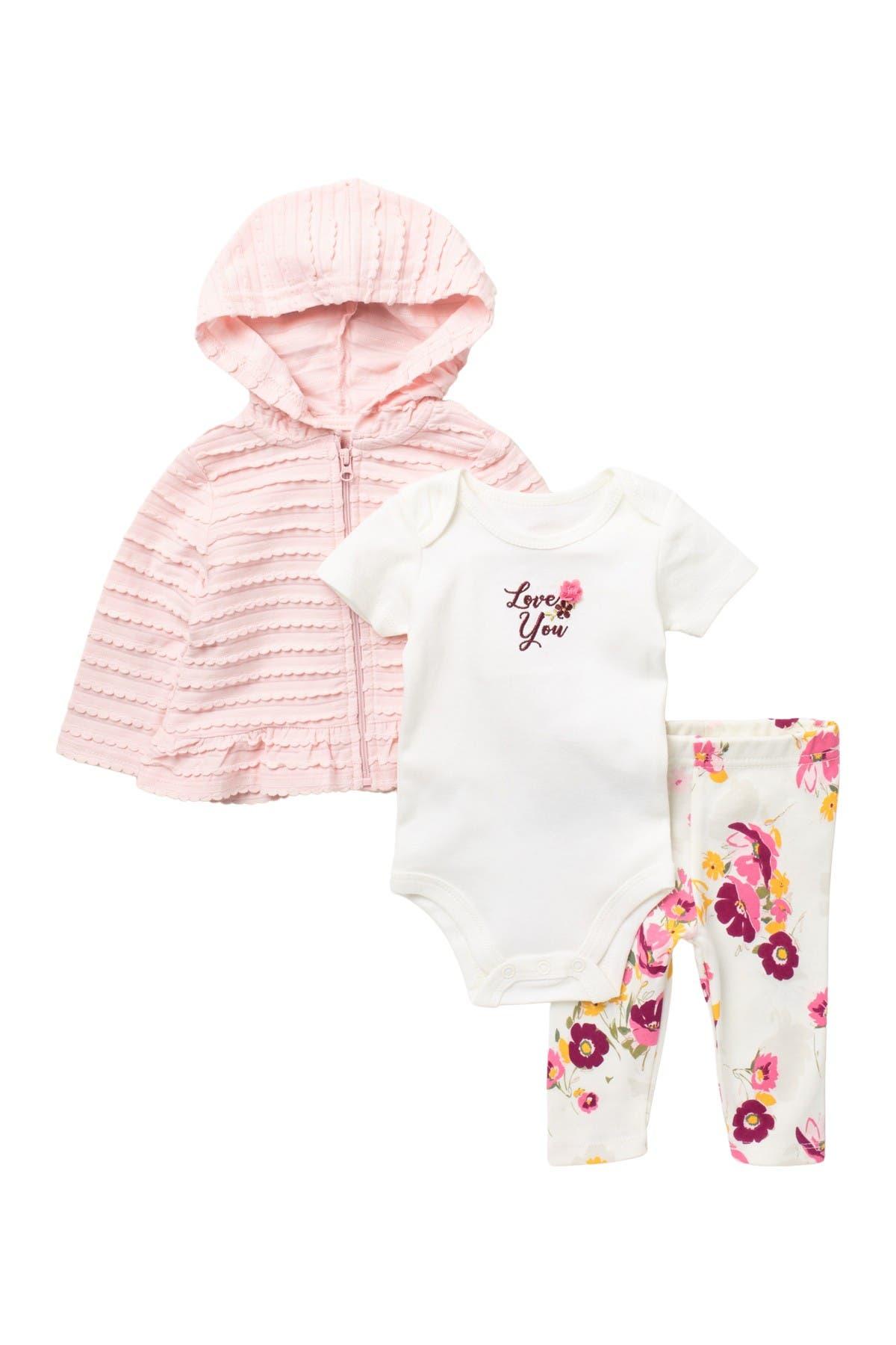 Image of Baby Starters Love You Hoodie, Bodysuit, & Leggings Set