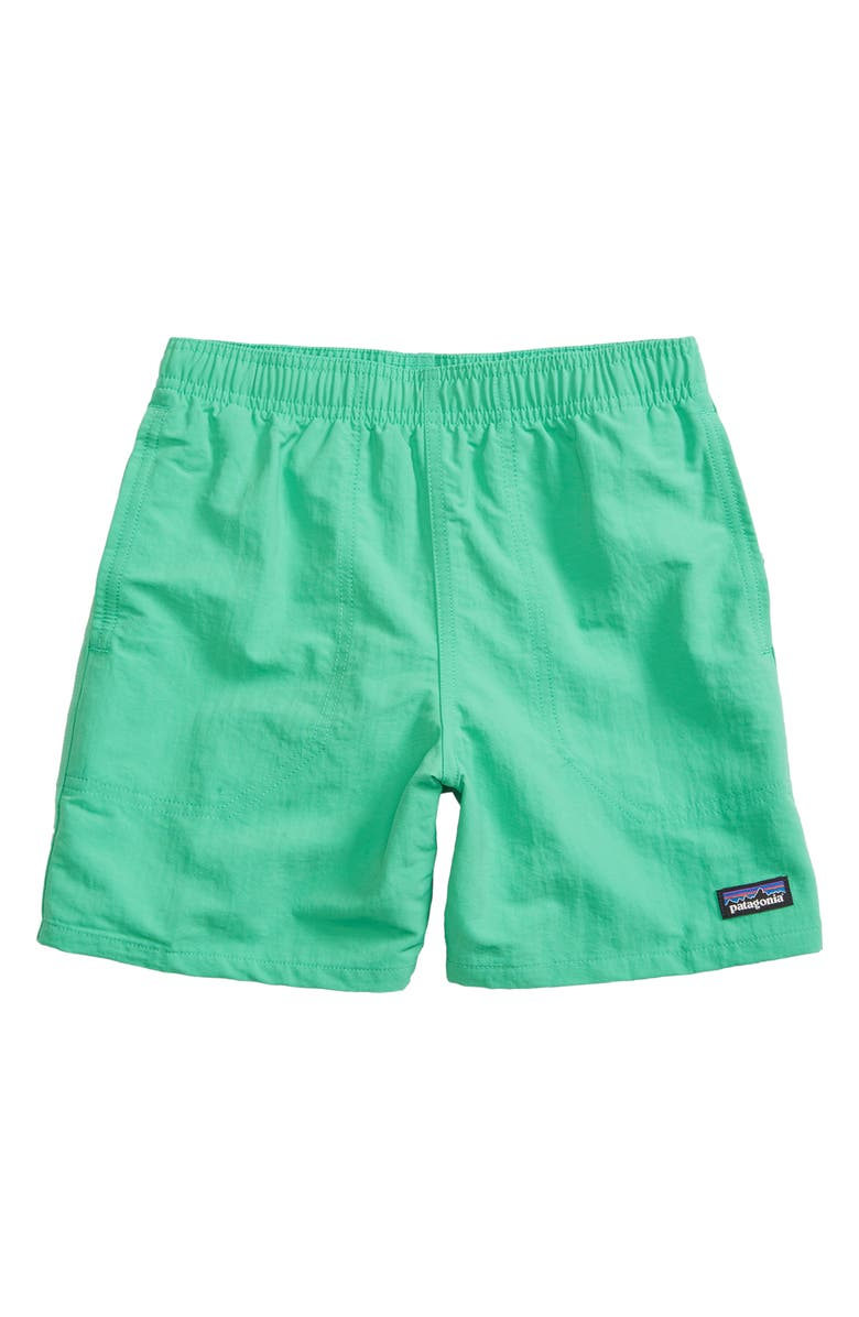 PATAGONIA Baggies Recycled Nylon Swim Trunks, Main, color, NETTLE GREEN