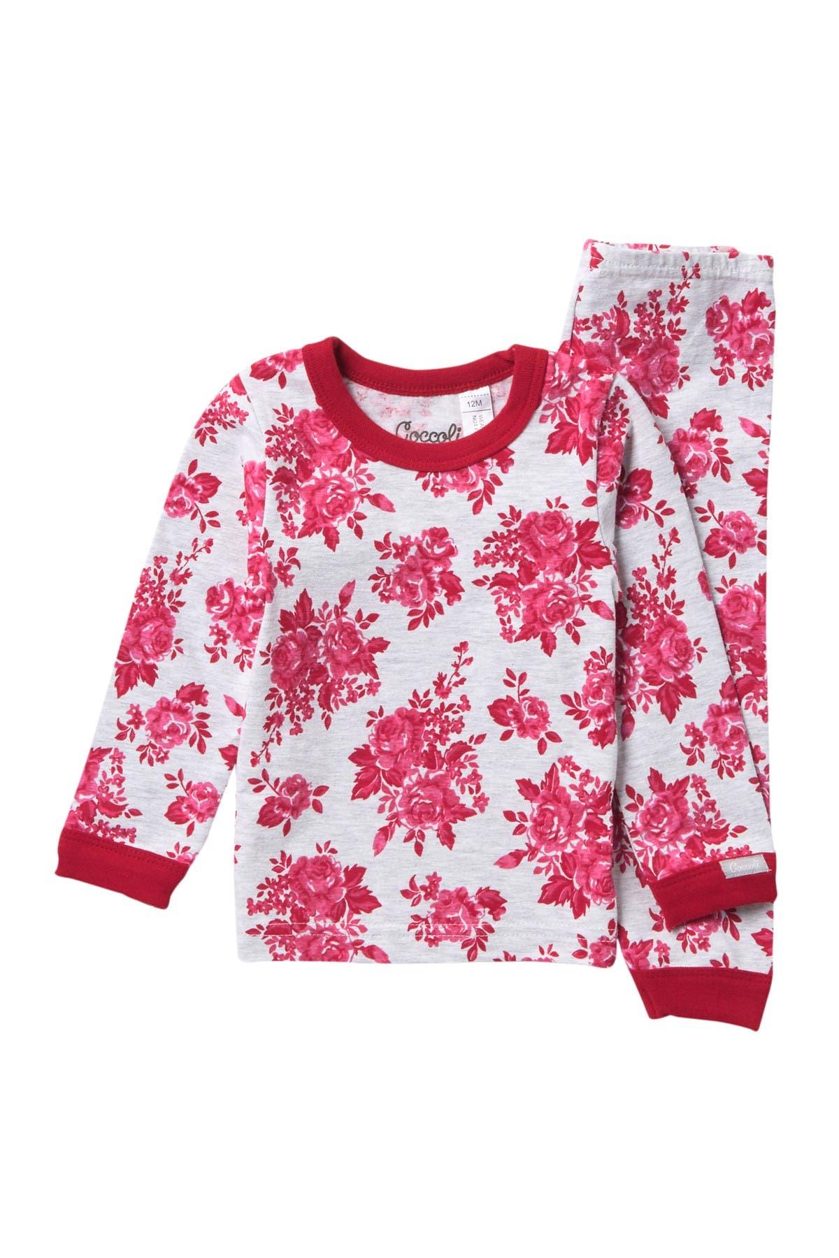 Image of Coccoli Floral Heathered Pajama Set