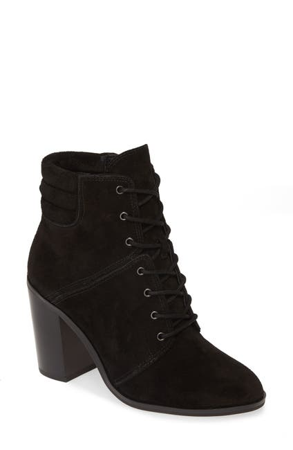 Image of MICHAEL Michael Kors Thatcher Suede Lace-Up Block Heel Bootie