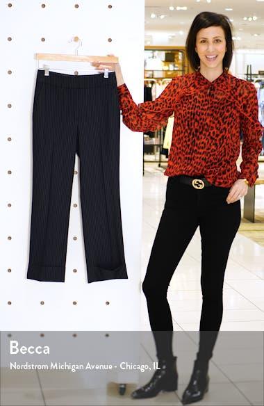 Method B Chalk Stripe Stretch Wool Crop Trousers, sales video thumbnail