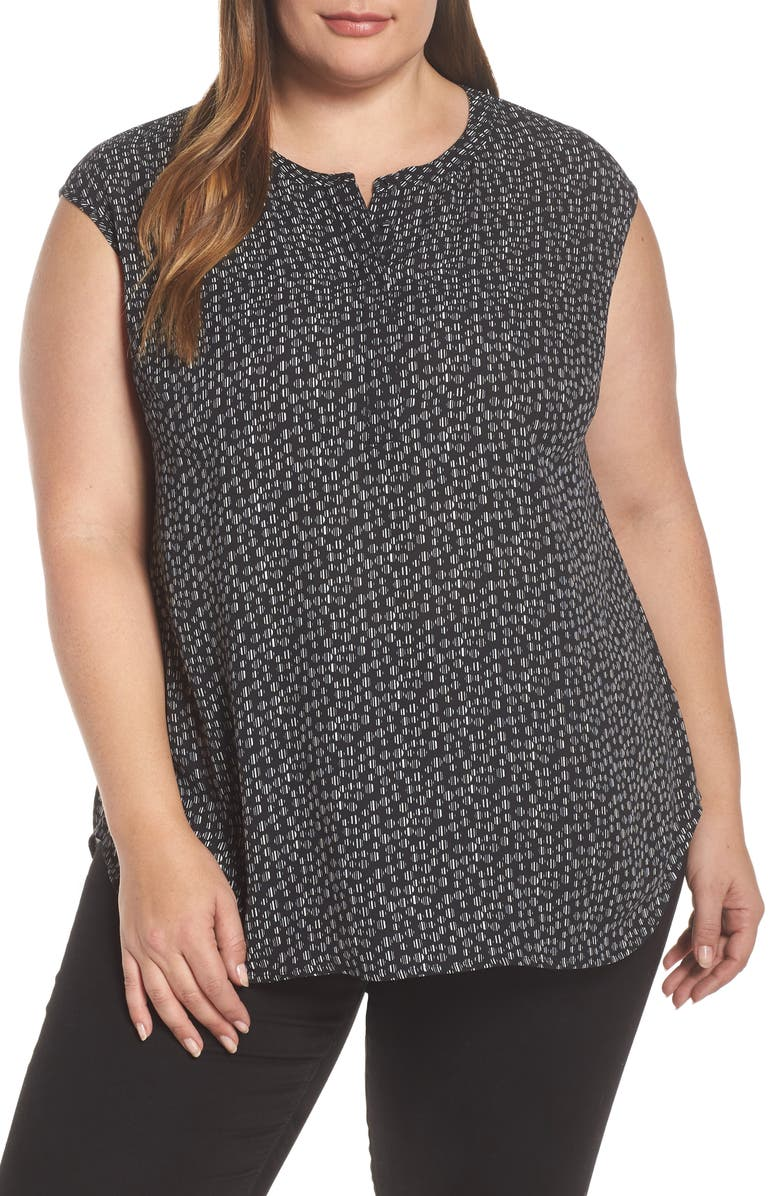 DANIEL RAINN Drop Back Tunic, Main, color, BLACK