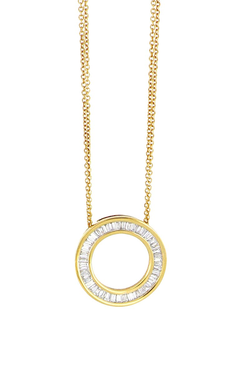 BONY LEVY Circle of Life Pendant Necklace, Main, color, YELLOW GOLD/DIAMOND