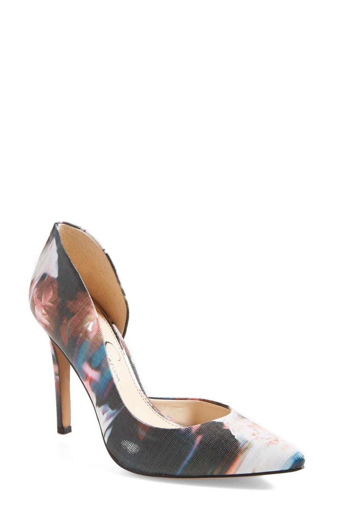 ,                             'Claudette' Half d'Orsay Pump,                             Main thumbnail 11, color,                             003