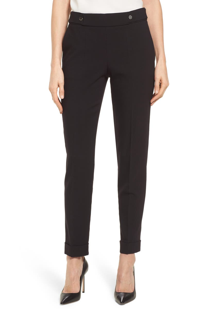 BOSS Tipulida Stretch Wool Suit Pants, Main, color, 001