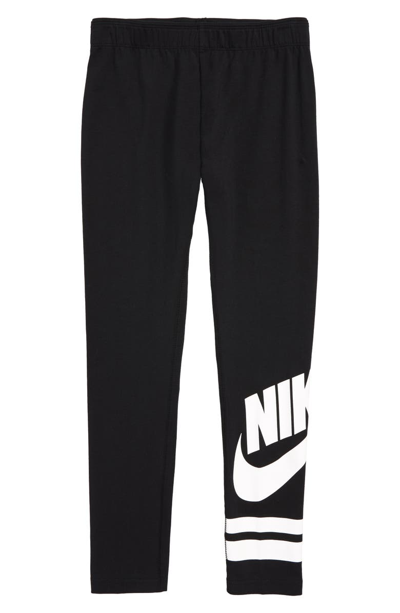 NIKE Sportswear Leggings, Main, color, BLACK/ WHITE