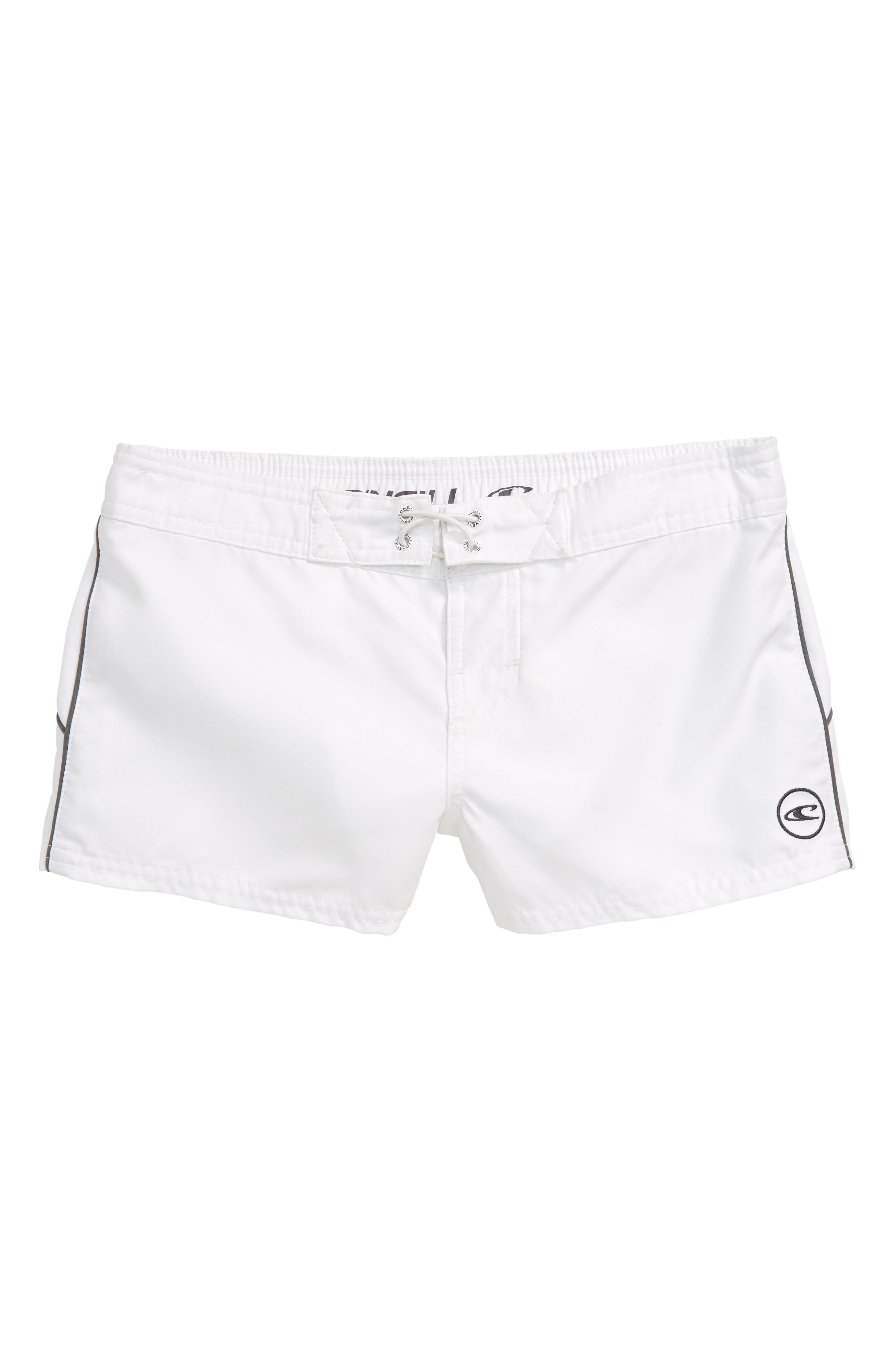 Girls ONeill Saltwater Solids Board Shorts Size 12  White