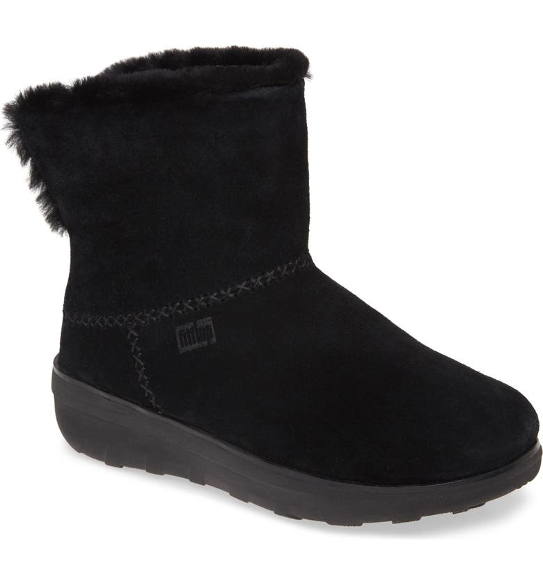FITFLOP Mukluk Shorty III Bootie, Main, color, ALL BLACK SUEDE
