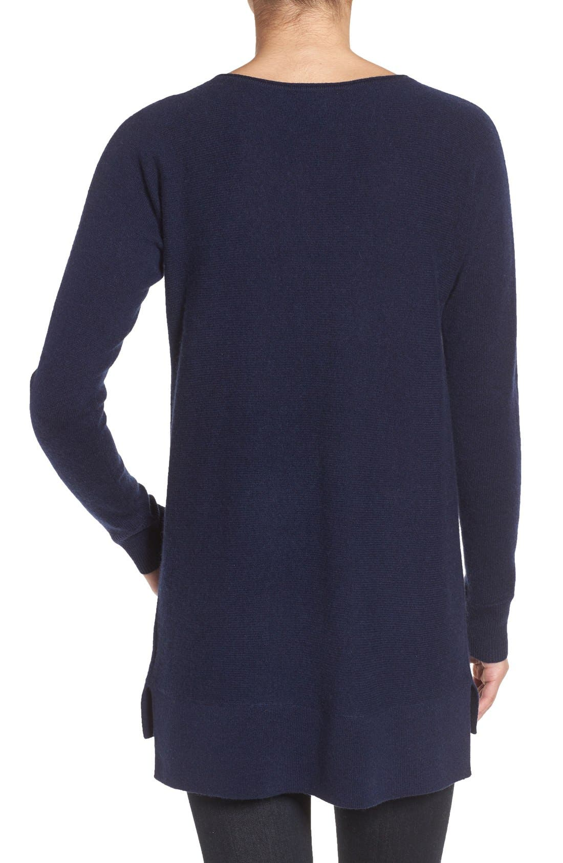 ,                             High/Low Wool & Cashmere Tunic Sweater,                             Alternate thumbnail 105, color,                             410