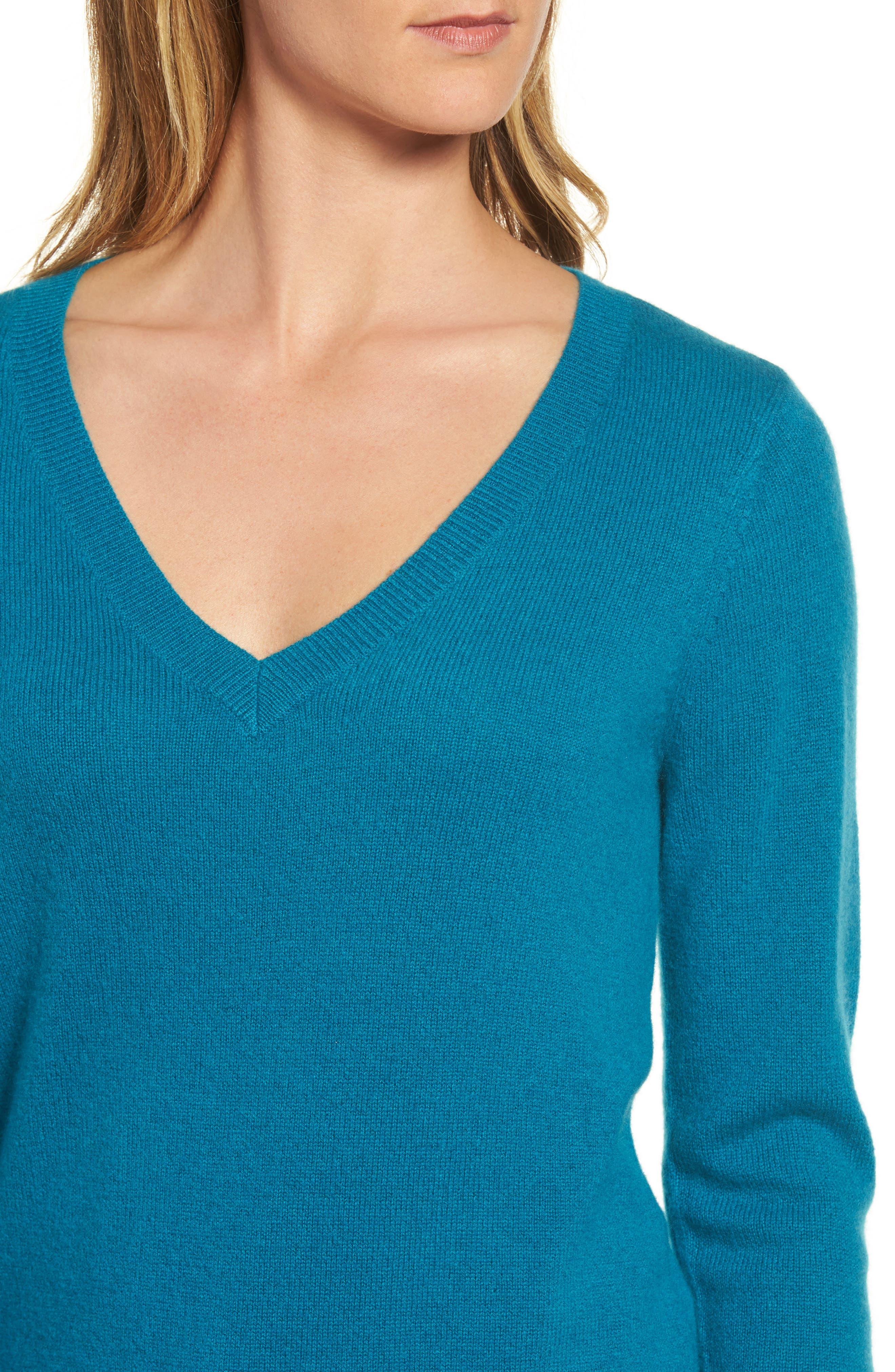 ,                             V-Neck Cashmere Sweater,                             Alternate thumbnail 44, color,                             449