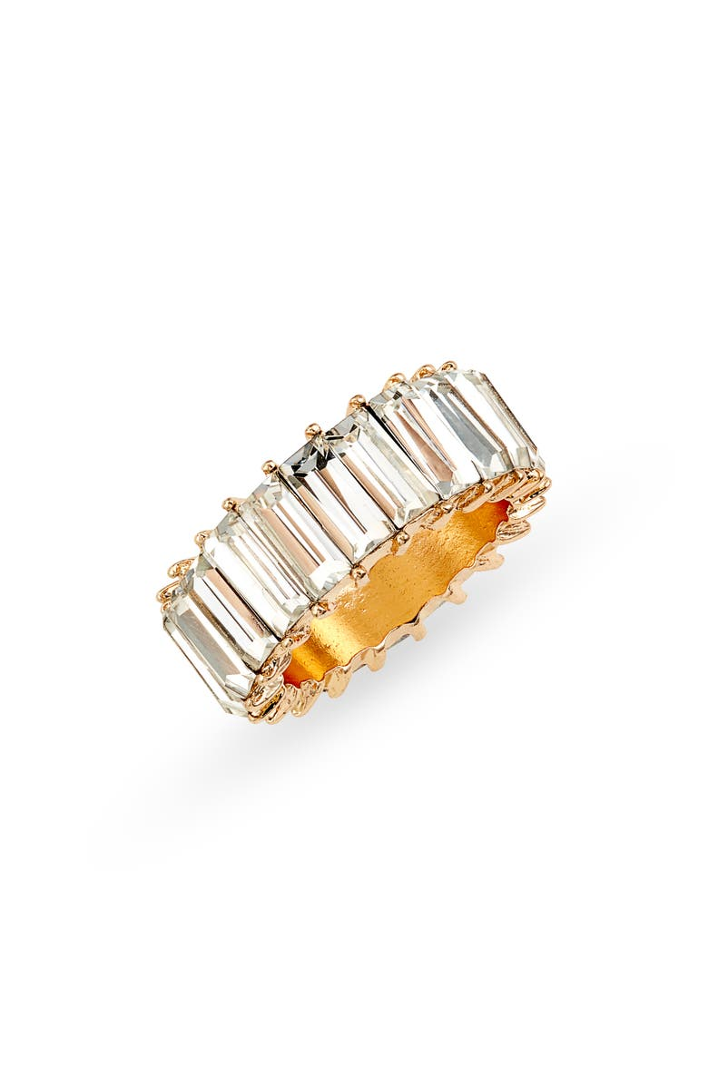 8 OTHER REASONS Miley Crystal Baguette Ring, Main, color, 100