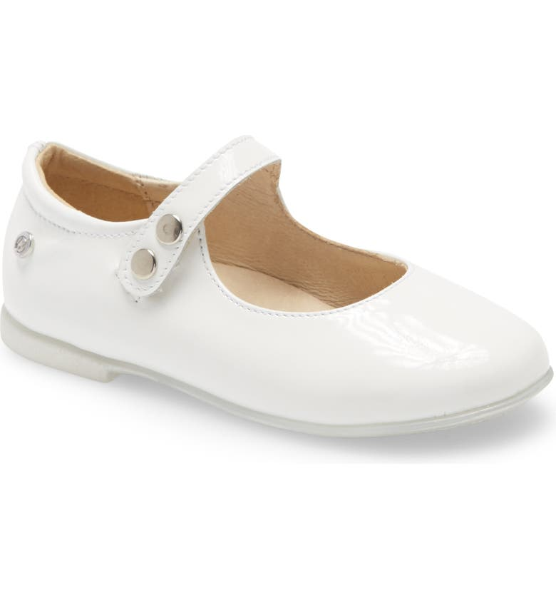 NATURINO Ovindoli Mary Jane Flat, Main, color, WHITE