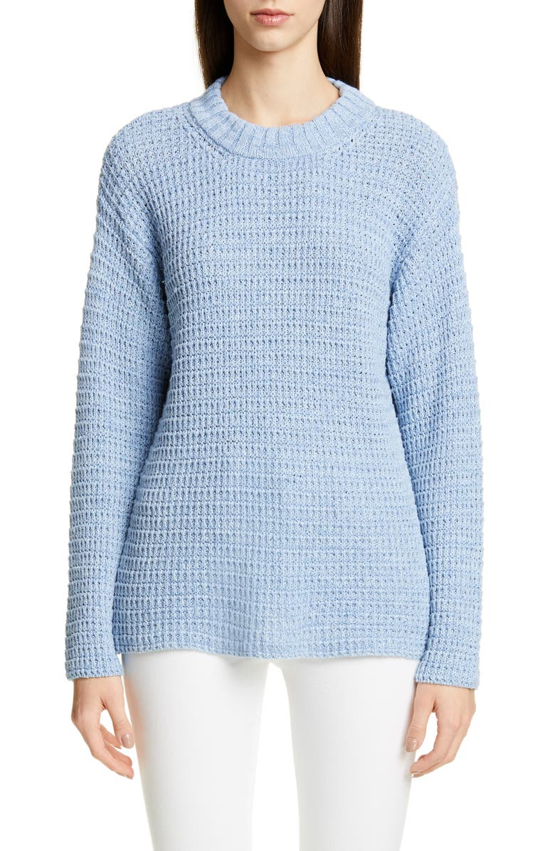 JACQUEMUS Pablo Linen & Cotton Sweater, Main, color, 400