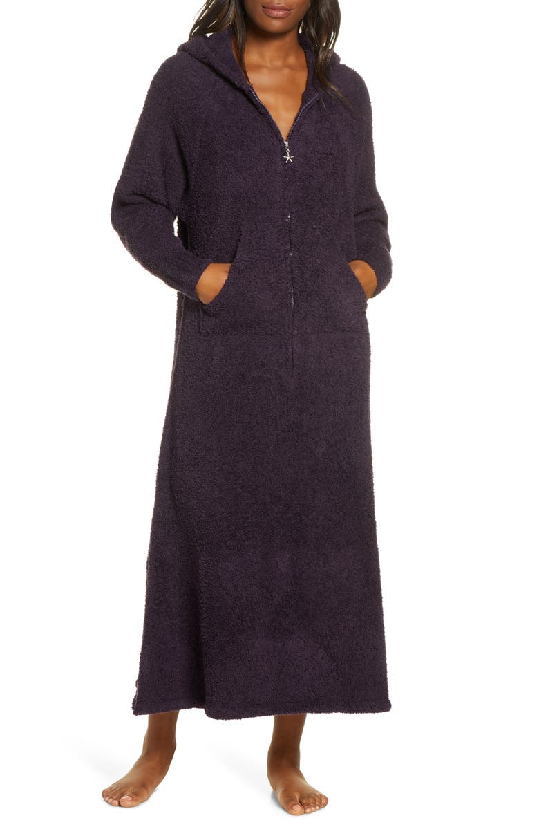 BAREFOOT DREAMS<SUP>®</SUP> CozyChic<sup>®</sup> Hooded Zip Robe, Main, color, AMETHYST