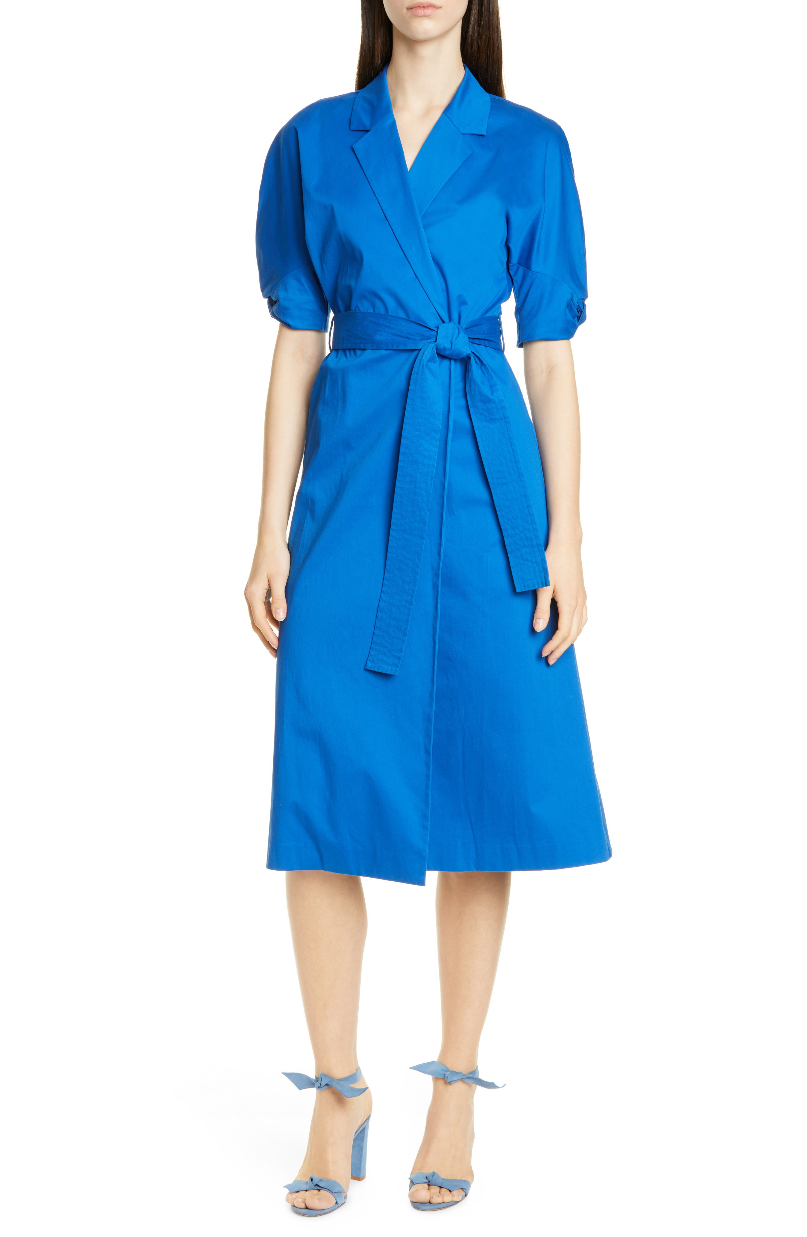 Equipment Anitone Wrap Dress, Blue