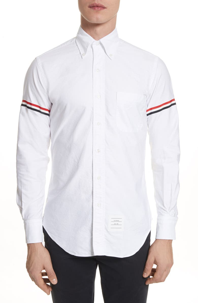 THOM BROWNE Oxford Shirt, Main, color, WHITE