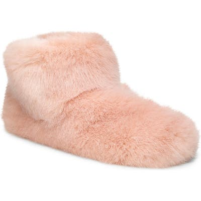 UGG Amary Faux Fur Slipper Bootie, Pink